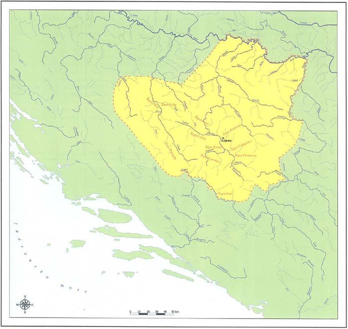 Granice Bosne u vrijeme bana Kulina